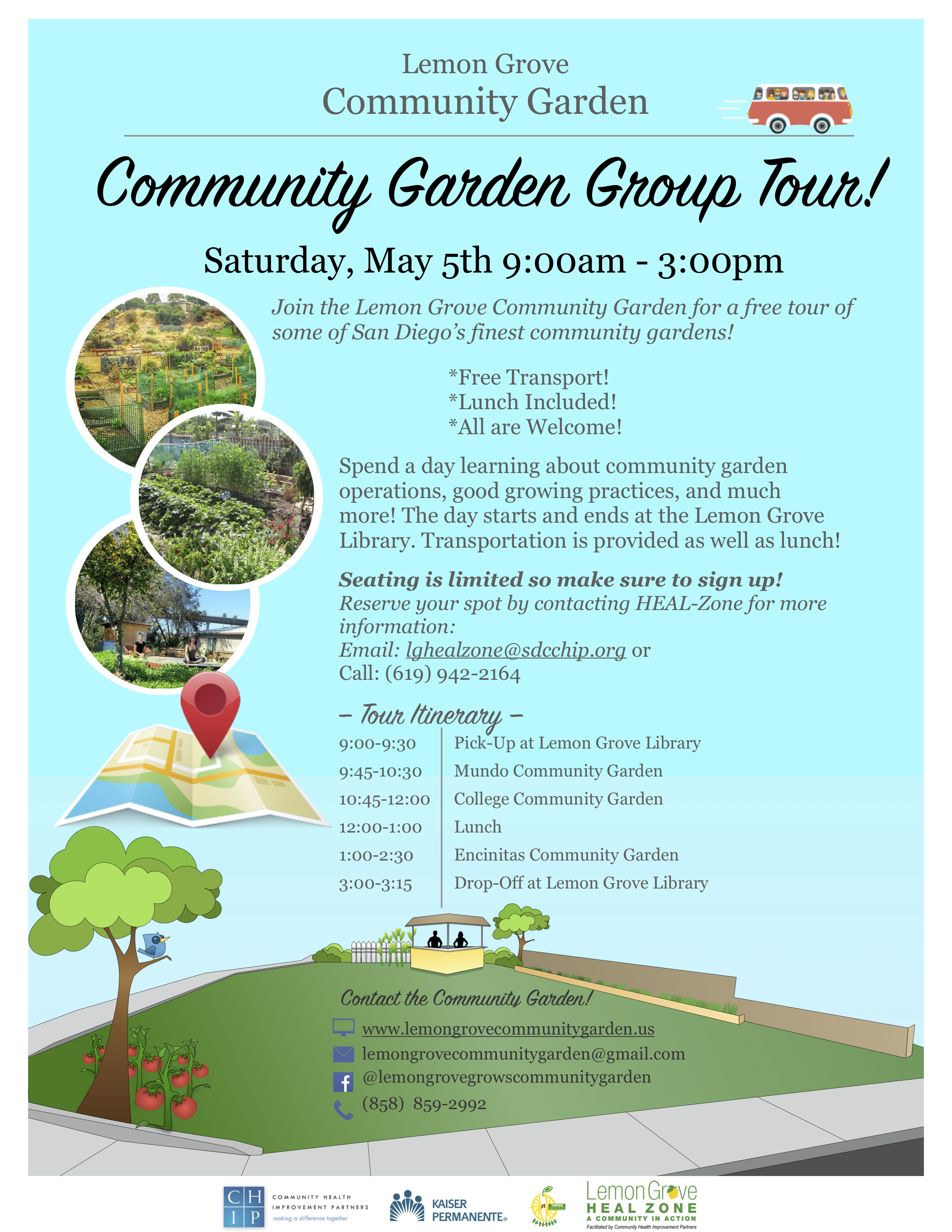 Community Garden Bus Tour